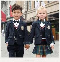 中小学生英伦风校服男女童新款套装幼儿园园服秋冬装儿童小西装潮