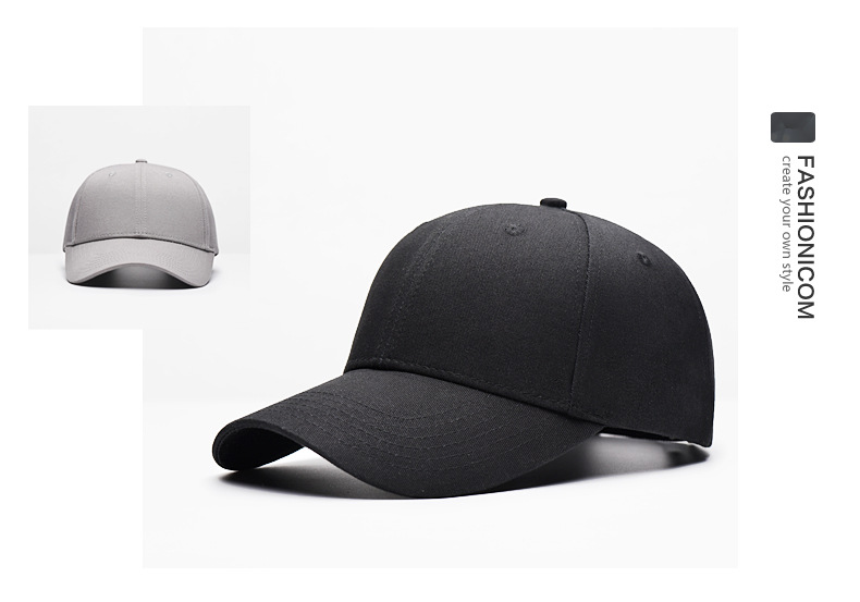 棒球帽子纯色弯沿高尔夫棒球帽 男士女士鸭舌帽子定制厂家