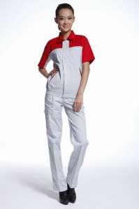 工作服定做 厂服套装 短袖工衣 春秋款纯棉耐磨