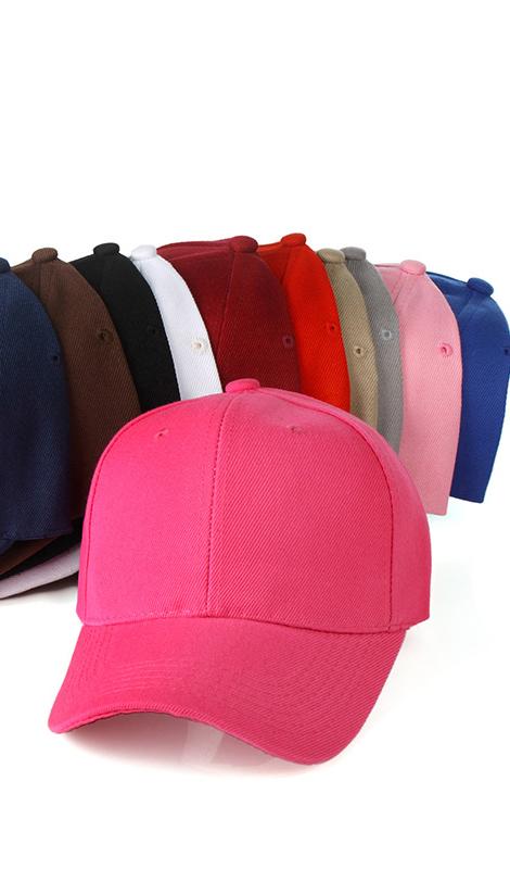 新款棒球帽爆款韩版纯色棒球帽棉质空白帽情侣鸭舌帽子男女